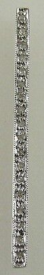 Diamond Spacer 14k White Gold 36.5 MM
