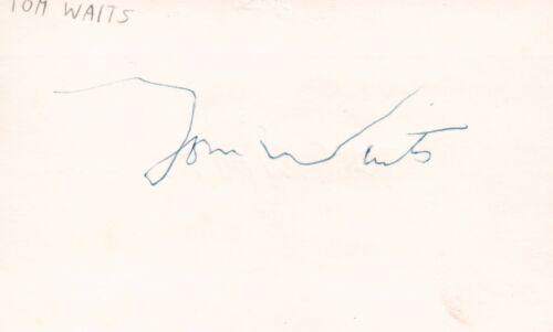 Tom Waits Singer Musician Songwriter Rock Blues Music Signed Index Card JSA COA