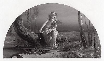 Allure Framed Art - Alluring Arthur Hughes 1800s Engraving
