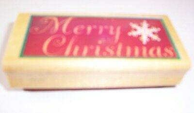 Merry Christmas Wooden Stamp Used Christmas Wooden Stamp