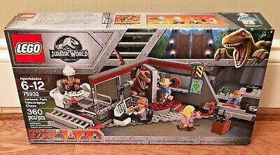 LEGO Jurassic World Jurassic Park Velociraptor Chase 75932, New Retired!