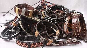 genuine-Leather-Bracleet-Wholeasale-lots-Cuff-Men-Women-Bracelet-Bangles-A001