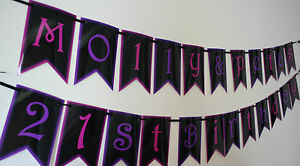 L@@K!! Personalised 21st Birthday Party Decoration - Banners / Party Flags!
