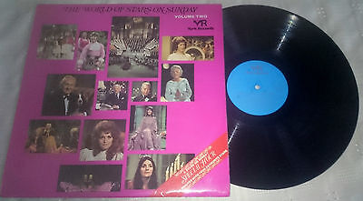 VARIOUS - THE WORLD OF STARS ON SUNDAY LP YORK RECORDS SPA 285 1973 VG £9.99
