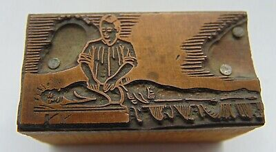 Printing Letterpress Printers Block Person Getting A Massage