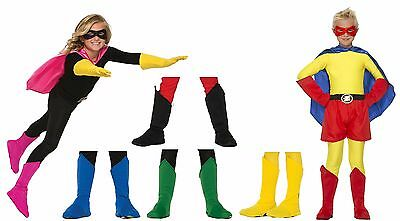 Kids Unisex Superhero Boot Tops Shoe Covers Super Hero Top Cover Girls Boys 7-12