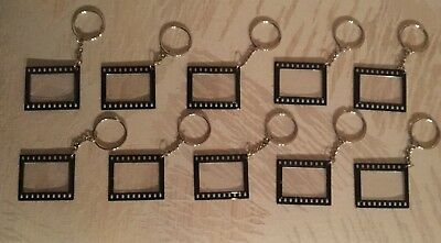 Director's Clapboard Film Picture Frame Keychains (10) Double-sided (Clapboard Keychain)