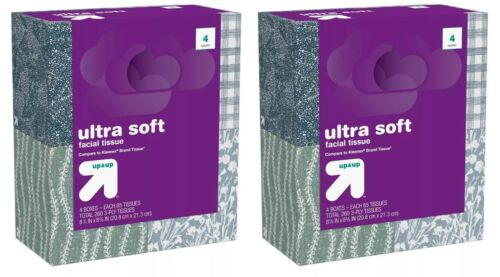 Up & Up Ultra Soft Facial Tissue 8 Boxes 65 Each 520 Total Tissues B025