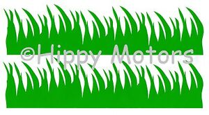 Grass strip vinyl car sticker window decal caravan camper van transfer