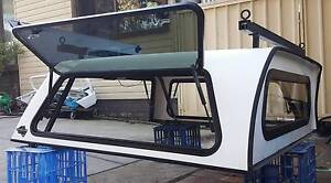 ISUZU DMAX DUAL CAB FLEXIGLASS TRADESMAN CANOPY + HD ROOF RACKS Yagoona Bankstown Area Preview