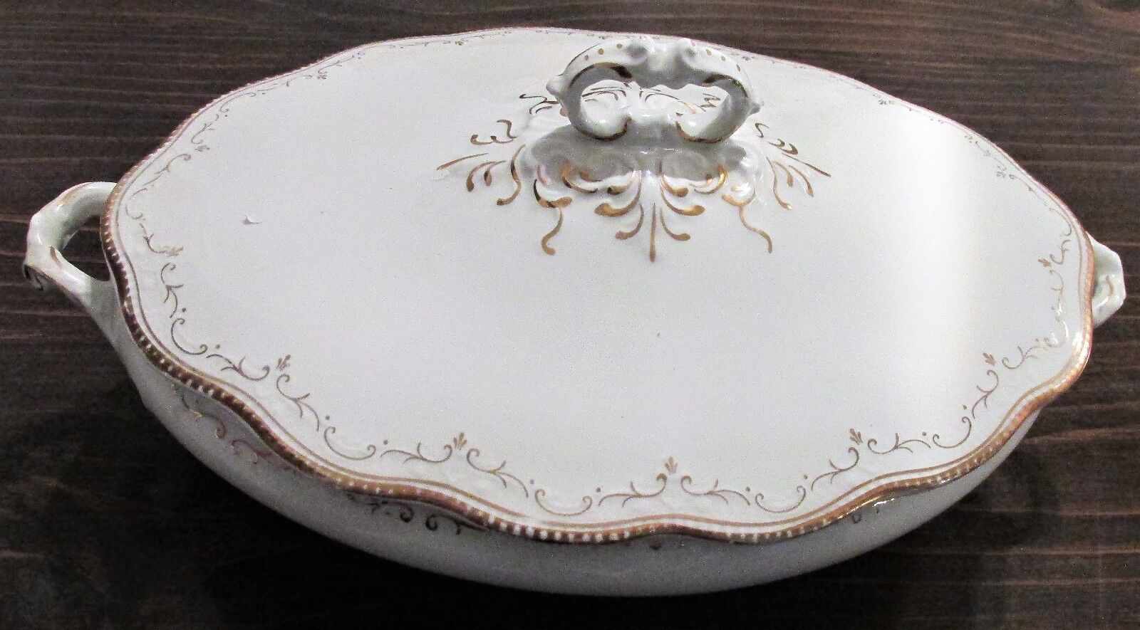 Vintage W. H. Grindley Fine China Casserole Serving Dish Made in England