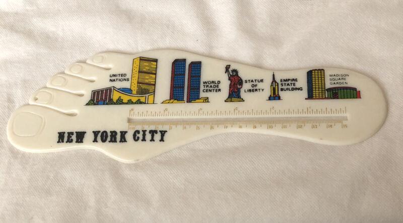 Vintage Novelty Plastic Ruler- Foot Rule / New York City World Trade Center Etc.