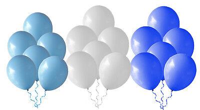 Luftballons Ø25cm Hellblau+Weiß+Blau gem.Oktoberfest Ballons Taufe GeburtstagNEU ()
