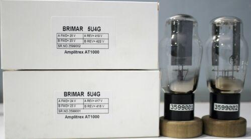 1MP 5U4G Brimar NOS D Getter Made in U.S.A Amplitrex Tested#3599001&2