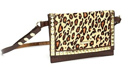 Michael Kors Womens Brown Cheetah Print Envelope Belt Bag 1188 Michael Kors Cheetah Print