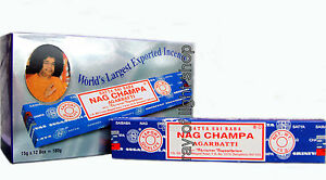 Genuine-2015-NAG-CHAMPA-Satya-Incense-Sticks-Joss-ORIGINAL-12x15gr-Wholesale-OM