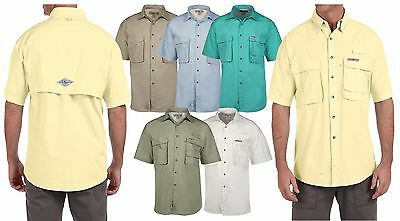 Hook & Tackle Mens Short Sleeve Fishing Shirt  Sport Shirts