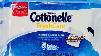 Kleenex Cottonelle FreshCare Flushable Cleaning Cloths Wipes SafeFlush, 56 - Kleenex Cottonelle Flushable Wipes