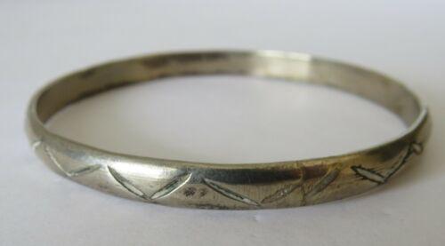 Vintage Silver Bangle Bracelet Southwestern Design
