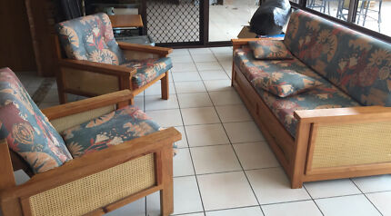 Sofa bed and 2 chairs with cushions  Terrigal Gosford Area Preview