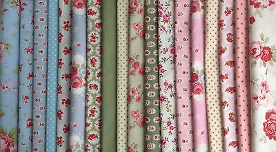 Big Bundle New 100% Cotton Floral Fabric Material Remnants Offcuts Cath Kidston,