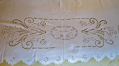Vintage Italian Hand Embroidered 100/% Pure Linen Top Sheet /& Pillowcase Set  Insert Burano Lace  In Original Box  Vintage Bed Linens
