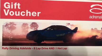 Gift Voucher Adrenalin Rally Driving valued at over $200