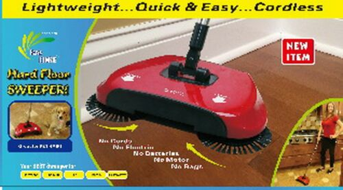 Easy Edge Hard Floor Sweeper Lightweight Cordless Red  000RM