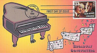 HERITAGE CACHETS LIMITED EDITION FIRST DAY COVER FDC -1999 BROADWAY SONGWRITERS