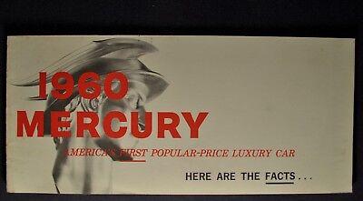 1960 Mercury Facts Brochure Monterey Montclair Park Lane Colony Park Wagon 60