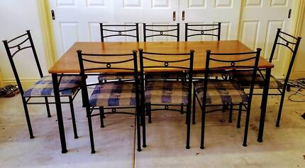 9 Pce Dining Setting, 8 Chairs & Table - ONLY $50.00