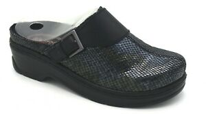 J7840 New Women's Klogs Austin Black Snake Slip On Clog 10 W