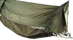 Medium image of military style jungle hammock od camping easy setup elevated shelter w  roof
