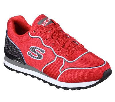 Details zu NEU SKECHERS Damen Retro Sneakers Laufschuh Memory Foam OG 85 STITCH N RUN Rot