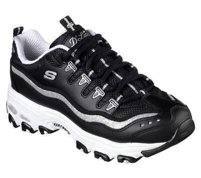 Details zu NEU SKECHERS Damen Sneakers Turnschuh Sportschuh Memory Foam D'LITES AIR Weiß