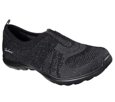 Dettagli su Skechers Slipper Sneaker | NERO | Mesh | Memory Foam | Dimensione 36 37 39 mostra il titolo originale