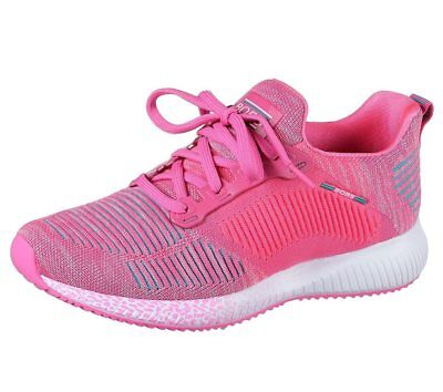 NEU SKECHERS Damen Sneakers Freizeitschuhe Sportschuhe Laufschuh BOBS SQUAD Pink - Damen Pink Schuhe