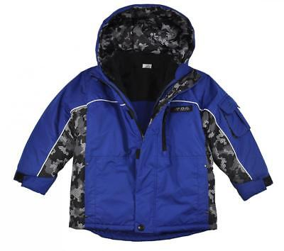 London Fog Boys Blue 4 In 1 Outerwear Coat Size 5/6 $75