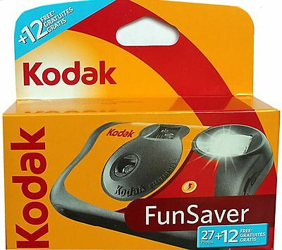 Kodak FUNFLASH-Disposable Camera with Flash 27+12 Exposures-Pack of 2 Cameras