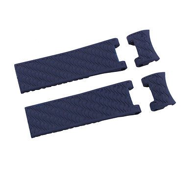 Silicone Rubber Diver Blue Watch Strap Band For ULYSSE NARDIN MARINE DIVER 22mm (Marine Silicone Rubber)