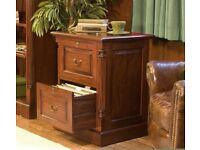Solid Mahogany Filing Cabinet NEW