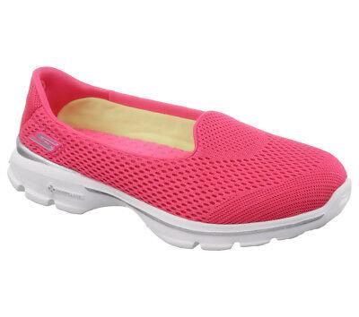 Detalles acerca de Nuevo Mujeres Skechers Fitness Zapatillas Zapatilla Mocasín Caminar Ir Caminar 3 Insight Rosa mostrar título original