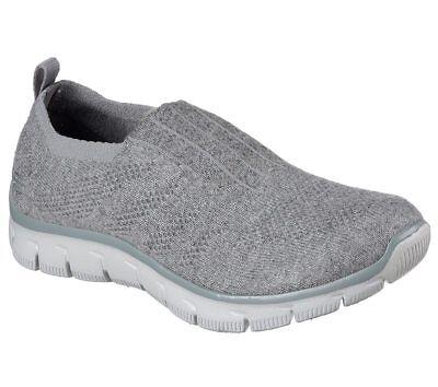 NEW SKECHERS Women Sneakers Trainers Memory Foam EMPIRE-CLEAR-AS-DAY Grey