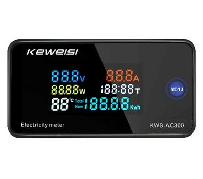 Kws-ac300b Digital Lcd Voltmeter 100 Amp Ammeter Current Power Energy Meter