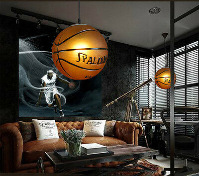 Basketball Pendant Light Ceiling Lamp Retro Kid/'s Room Suspension Chandelier