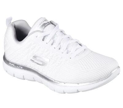 NEU SKECHERS Damen Sneakers Turnschuhe FLEX APPEAL 2.0-BREAK FREE Weiß