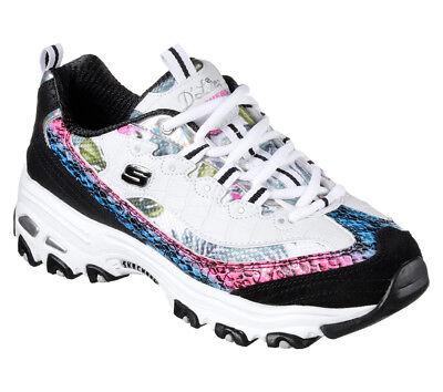 Details zu NEU SKECHERS Damen Sneakers Turnschuhe Schnürschuhe D'LITES RUNWAY READY Weiß