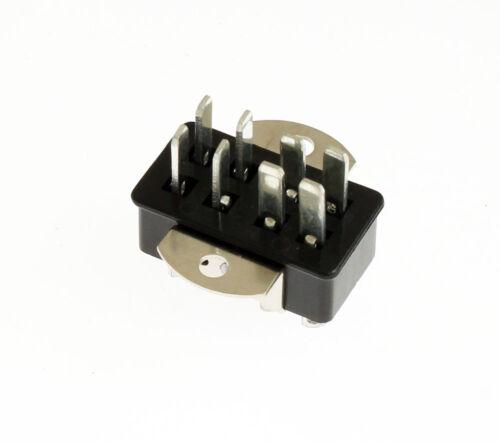 P-308-AB Angle Bracket Chassis Mount 8 Pin Male Jones Plug Connector