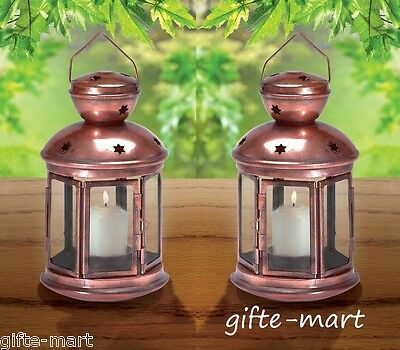 2 shabby country western COPPER Candle holder Lantern wedding table centerpiece (Country Western Table Centerpieces)