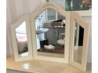 Three way dressing table mirror